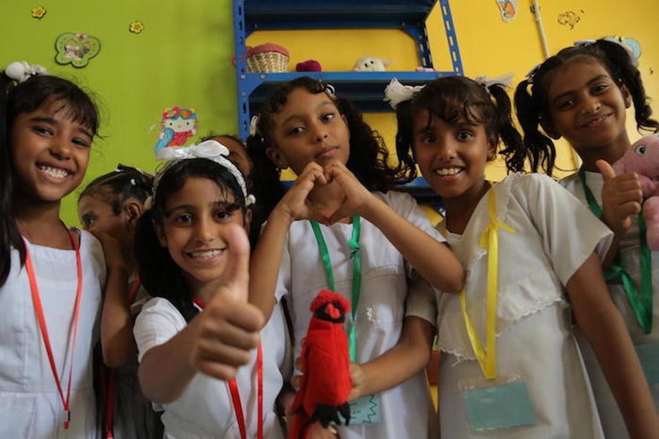 Yemen's children dream of peace, and a future without fear. Ibn Zaidoon School, Aden, Yemen, December 4, 2018.