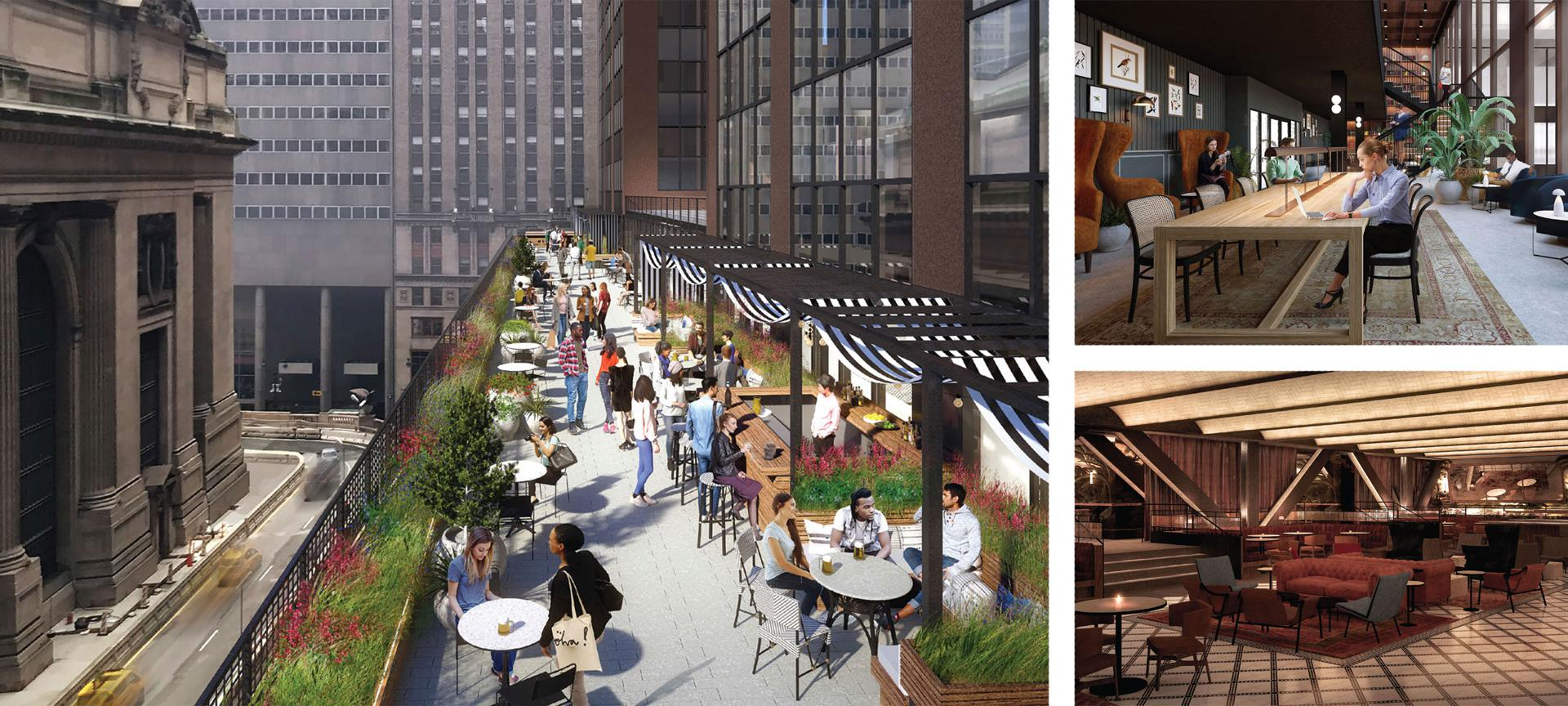 Company's mixed-use tech campus will include outdoor seating on a terrace overlooking Grand Central Terminal, as well as an executives-only space and a ground-floor bar.