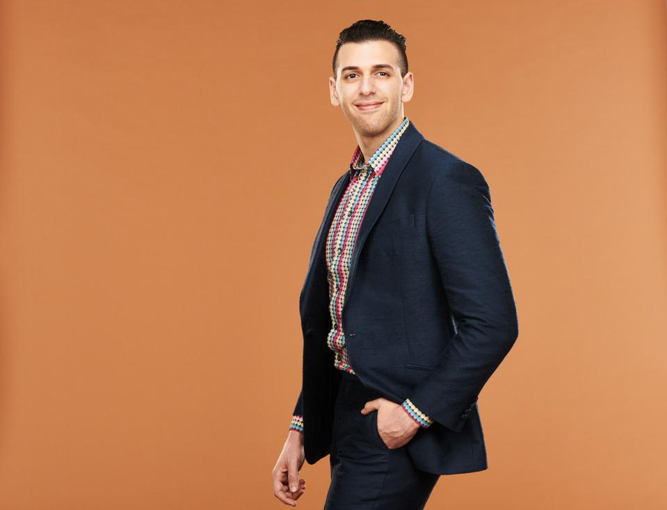 Intangible Labs CEO Nader Al-Naji poses for the Forbes 30 Under 30 list.