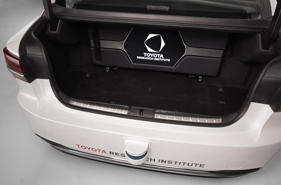 The P4 autonomous vehicle prototype has a small but open trunk as the computer is now concealed behind the rear seats.