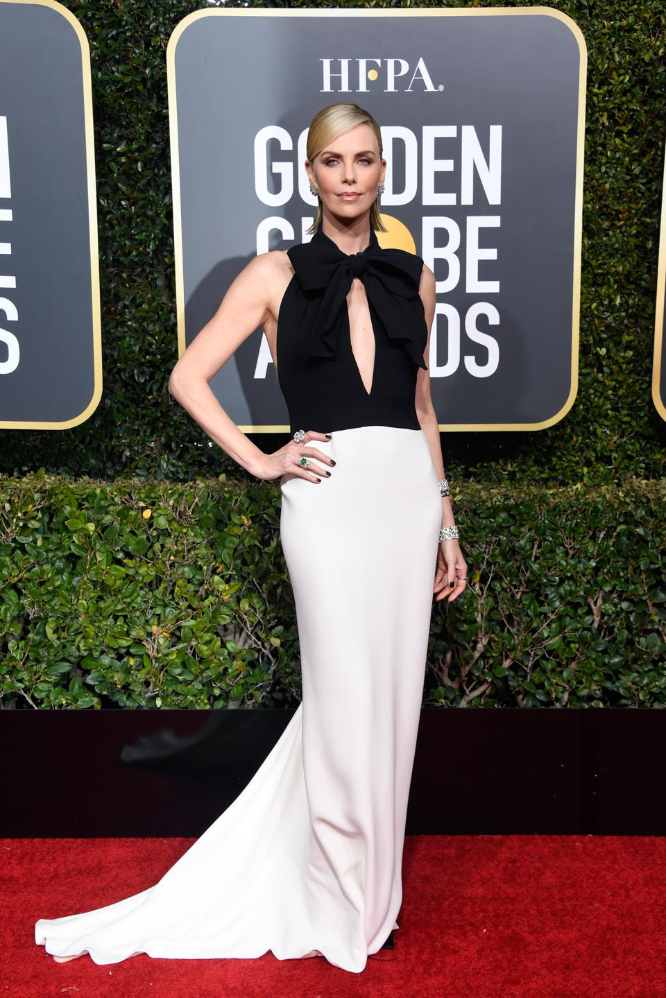 Charlize Theron stuns in Dior.