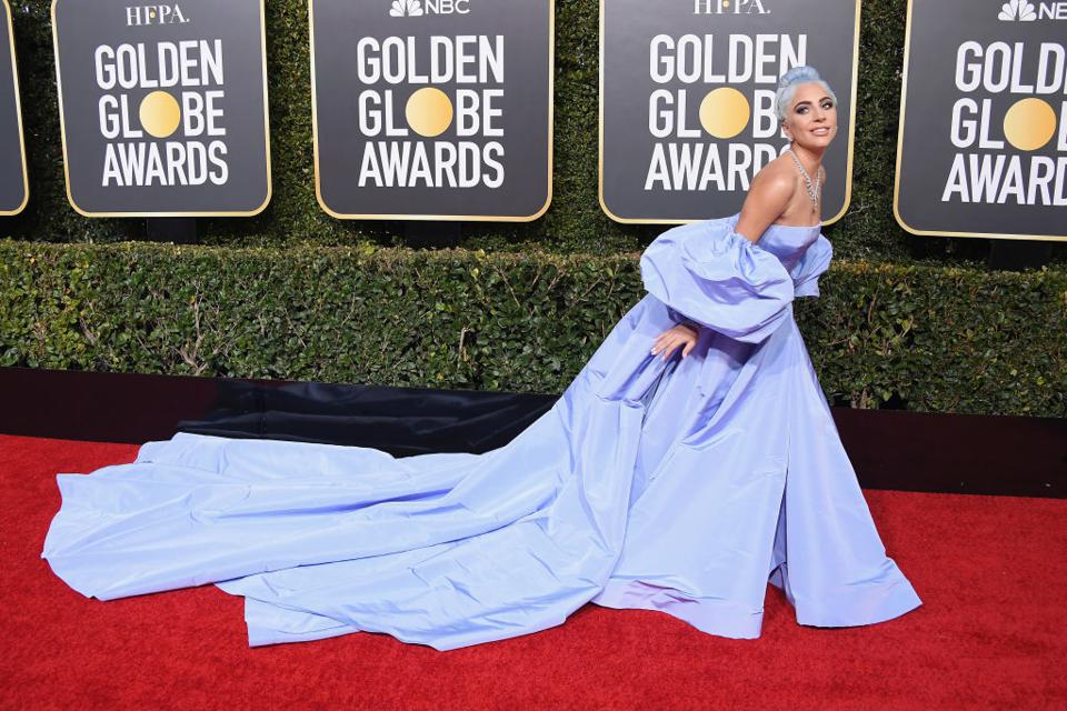 A Star Is Shining: Lady Gaga steals the spotlight on the Golden Globes red carpet.