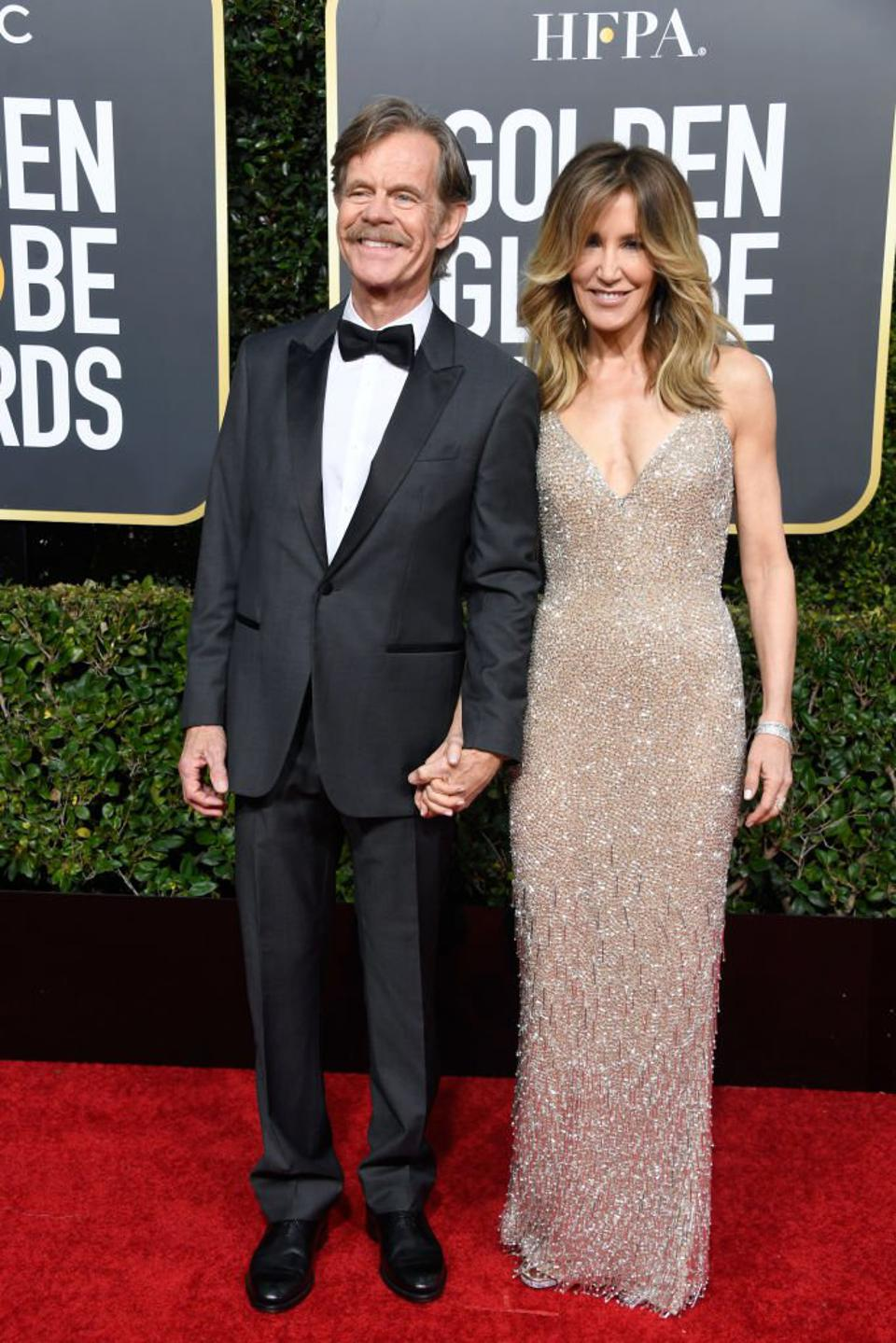 William H. Macy and Felicity Huffman look shamelessly good on the red carpet.