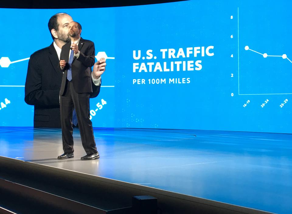 Toyota Research Institute CEO Gill Pratt discusses the company's Guardian safety system that it wants to offer to rival automakers to cut down on traffic accidents at CES in Las Vegas on January 7, 2019.