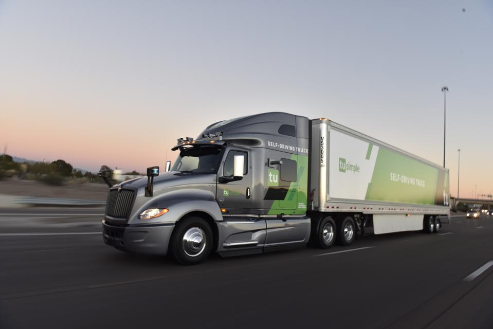Robot Trucks Enter The Fast Lane As Daimler, TuSimple And