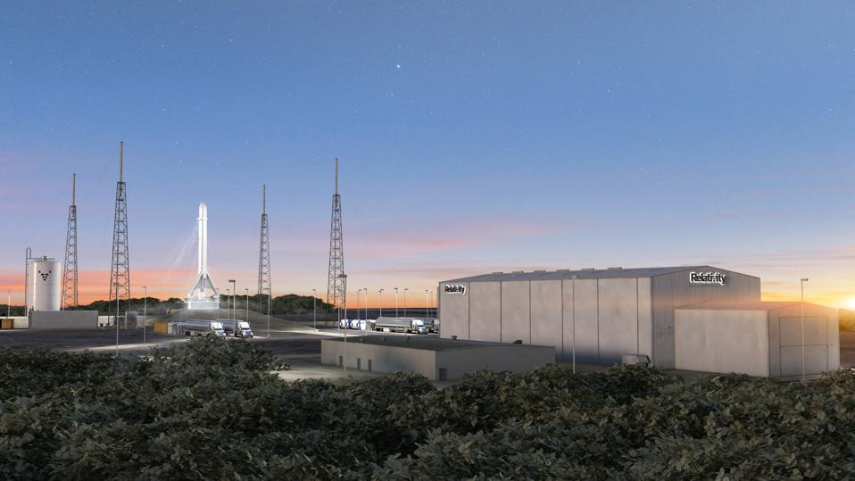 Artist conception of Relativity Space launch facility at Cape Canaveral, which is scheduled to be completed in 2020.
