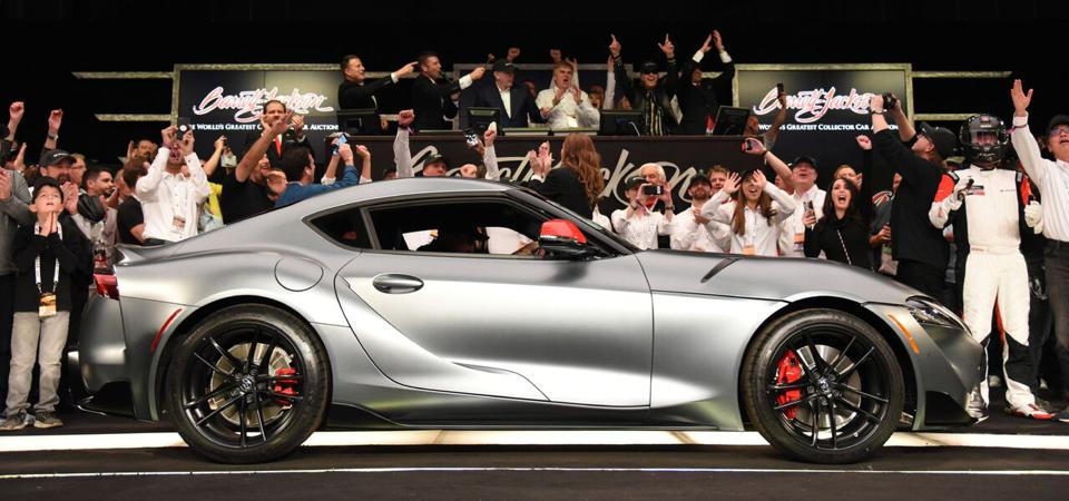First 2020 Toyota Supra Sells For 2 1 Million At Barrett Jackson
