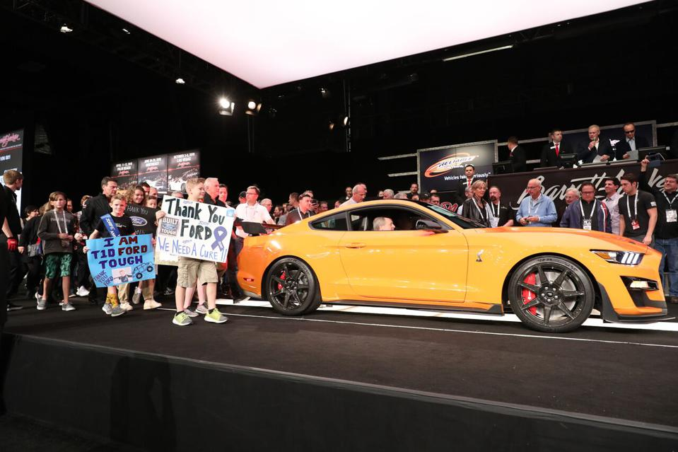 Another Serial One car, this 2020 Ford Mustang GT 500 captured $1.1 million for the fight against diabetes.