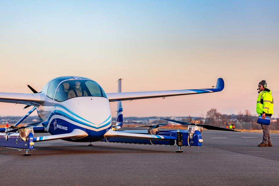 Boeing in January completed its first flights of an all-new vehicle that could be the basis for an autonomous air-taxi.