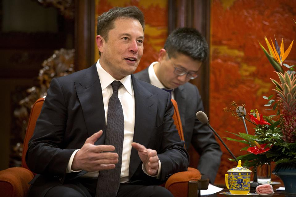 Elon Musk during a meeting with Chinese Premier Li Keqiang at the Zhongnanhai leadership compound in Beijing on January 9, after a groundbreaking ceremony for Tesla's Shanghai Gigafactory.