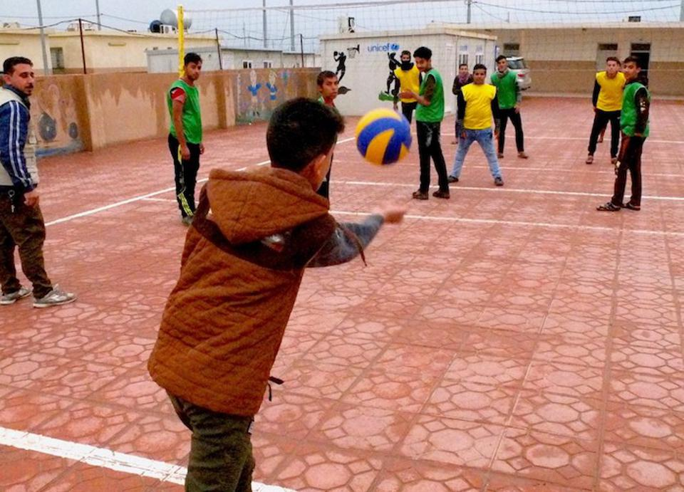 UNICEF and partner organization Terre Des Hommes organize recreational activities, education and counseling for young people recovering from violence and trauma in northern Iraq's Debaga camp.