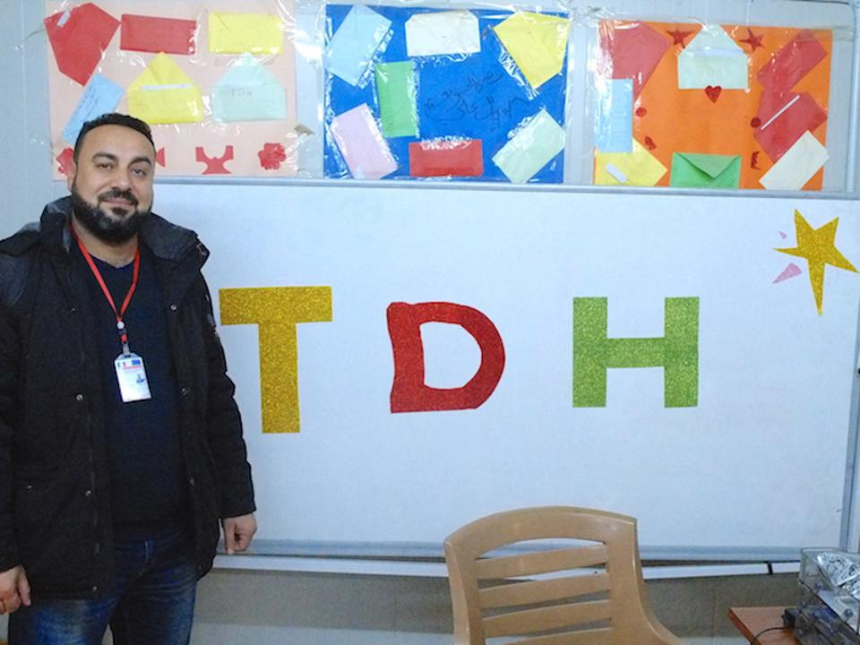 Ayad Hamad, a project manager with UNICEF partner organization Terre Des Hommes, works with at-risk youth in the Debaga camp in Iraq's Erbil Governate.
