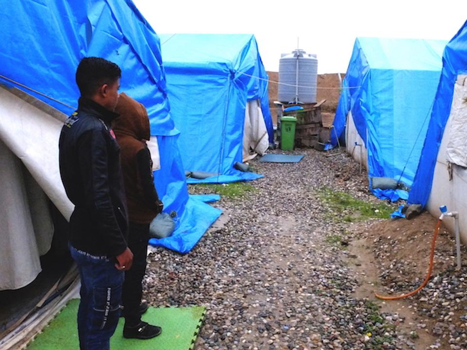 Children are safe from violence in Iraq's Debaga camp.