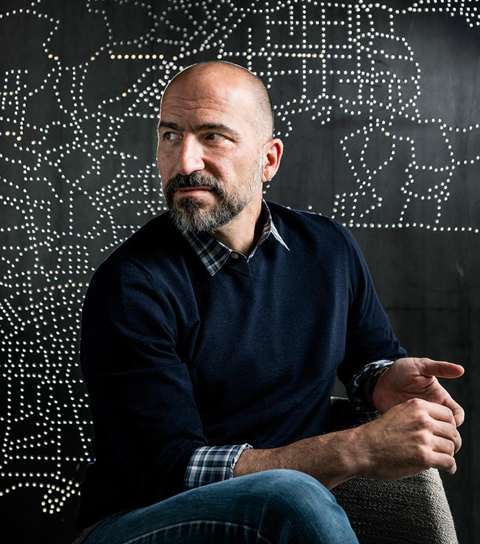 "Dara Khosrowshahi, Uber's CEO, has left much of Eats to Jason Droege (pictured above): ""Honestly, I'm there to do the corporate grunt work,"" he says."