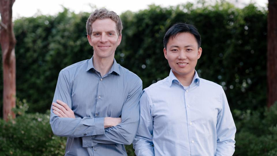"Nuro's cofounders Dave Ferguson, left, and Jiajun ""JZ"" Zhu have worked together since their days at the Google Self-Driving Car Project."