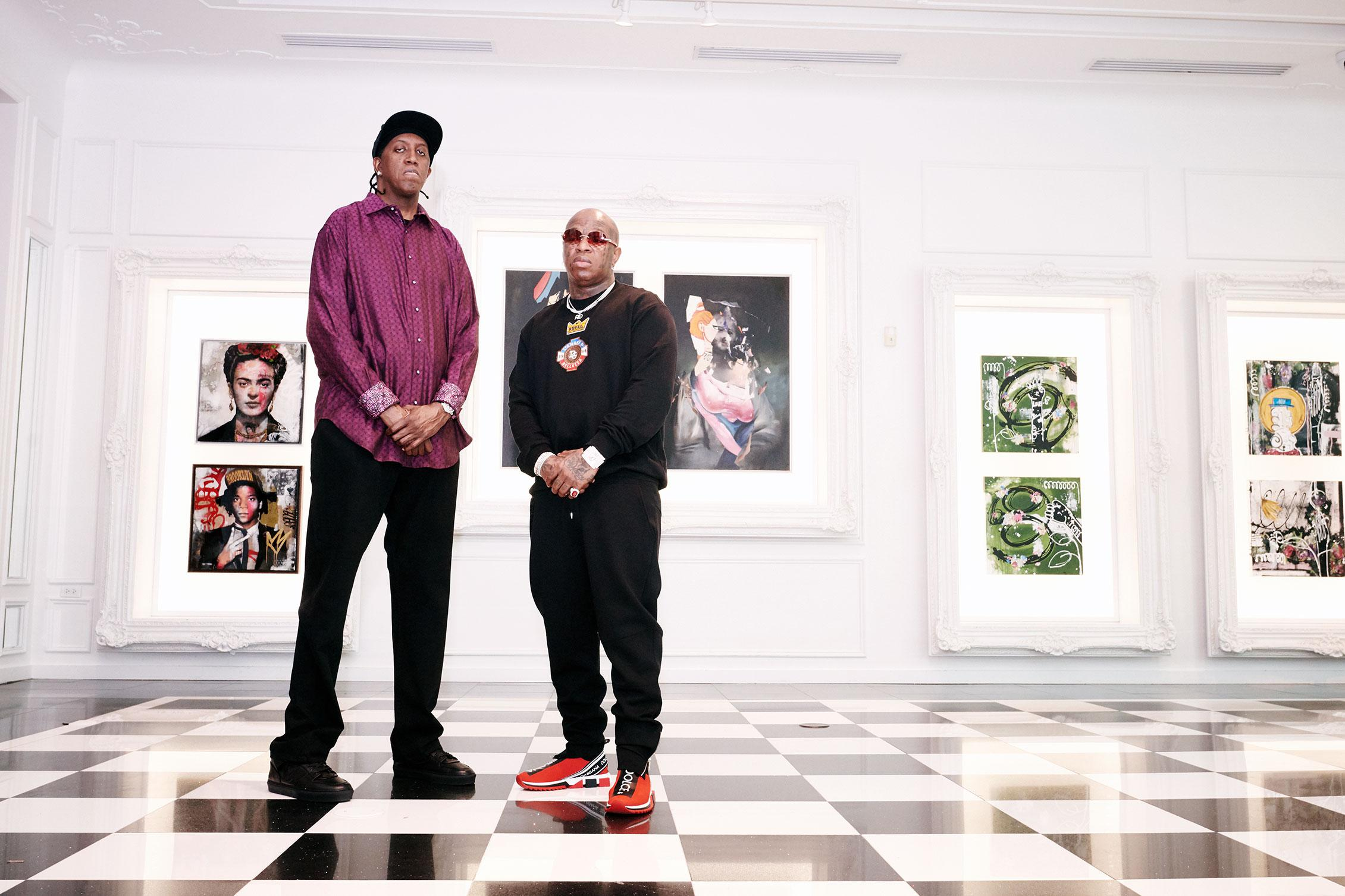 Slim and Birdman at Avant Gallery in South Florida.