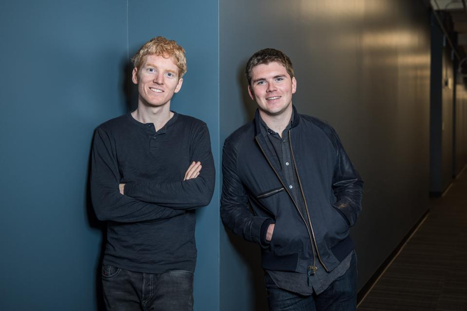 Stripe cofounders Patrick and John Collison.