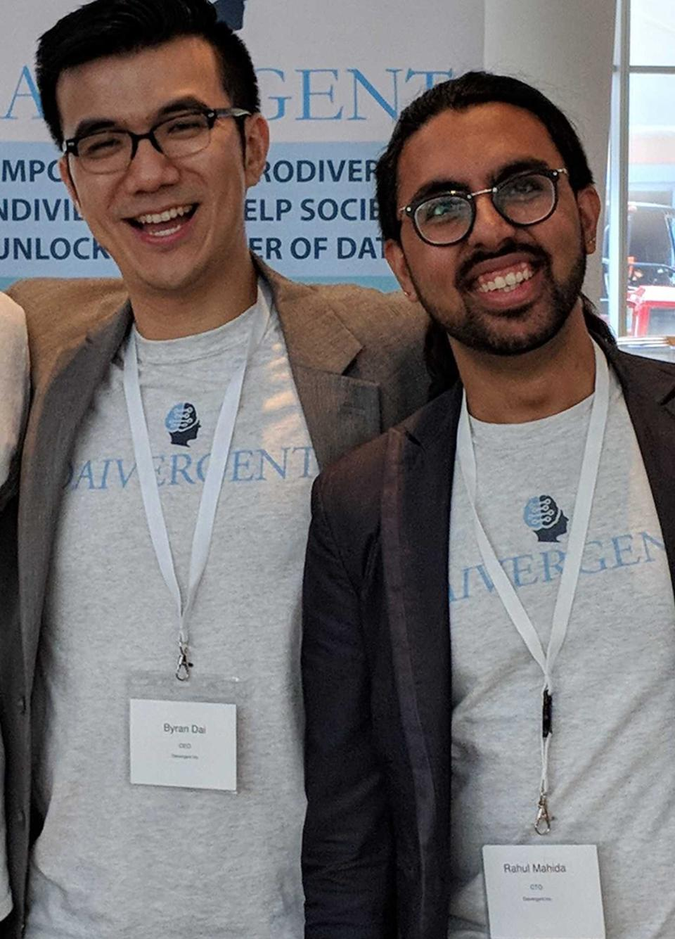 Co-founders of cloud-based startup, Daivergent. L to R: Byran Dai, CEO, Rahul Mahida, CTO