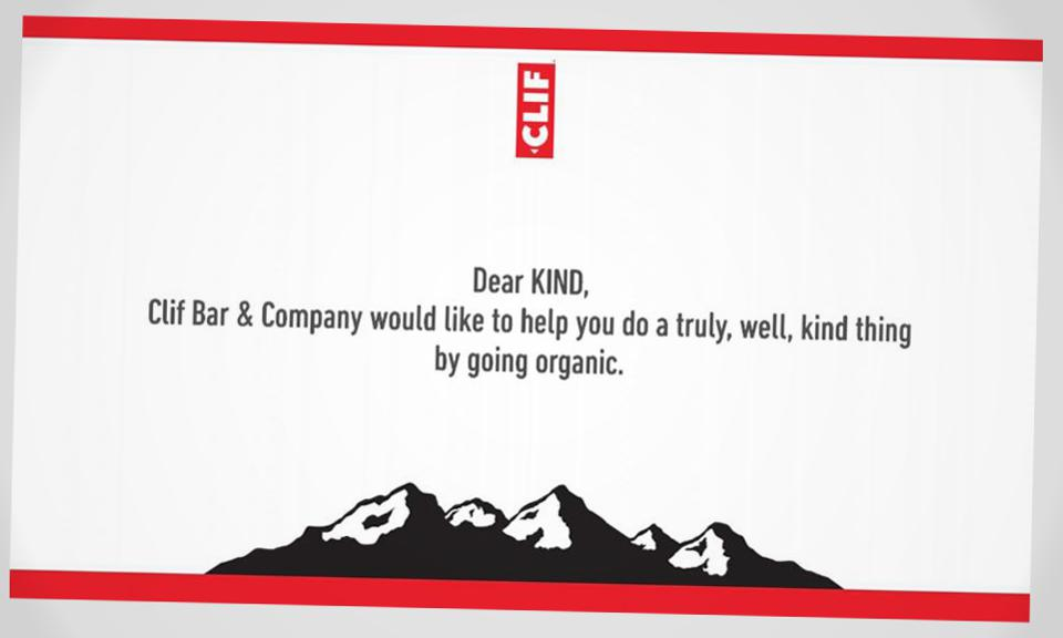 Clif Bar takes out ad in the New York Times.