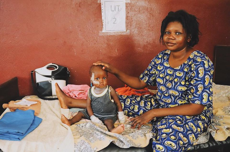 Nine-month-old Christille's mother rushed her to the UNICEF-supported pediatric hospital to be treated for severe acute malnutrition.