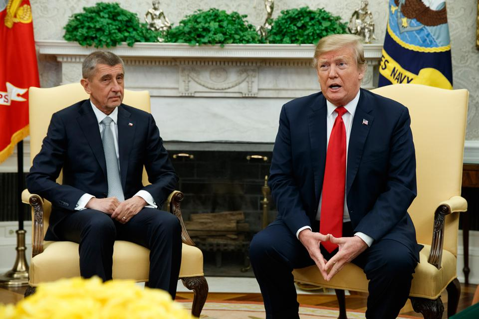 donald trump and Andrej Babiš