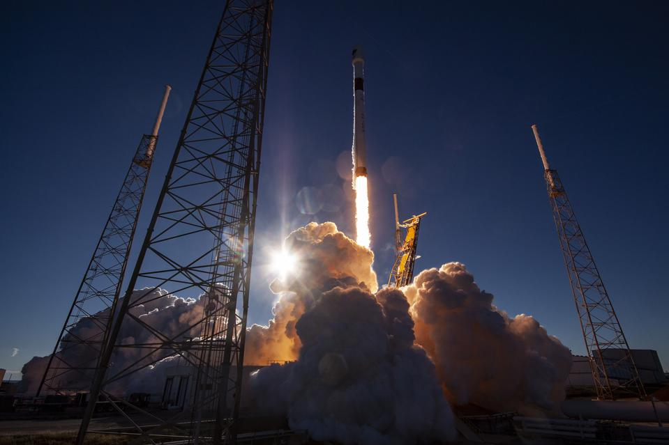 SpaceX launch of a GPS satellite for the Air Force