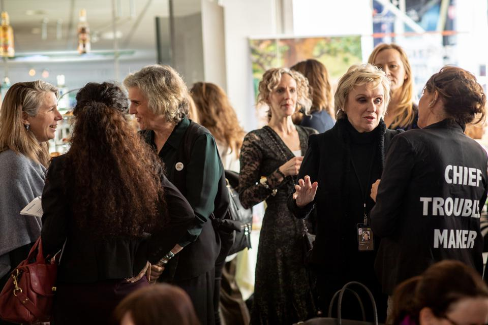 Women gather at the FQ Lounge in Davos.
