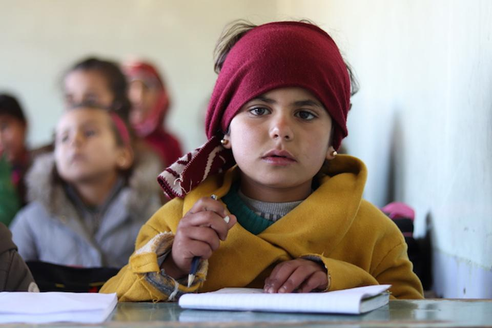 Together, Educate A Child — a global program of the Education Above All Foundation — and UNICEF have reached 7-year-olds like Heyam.