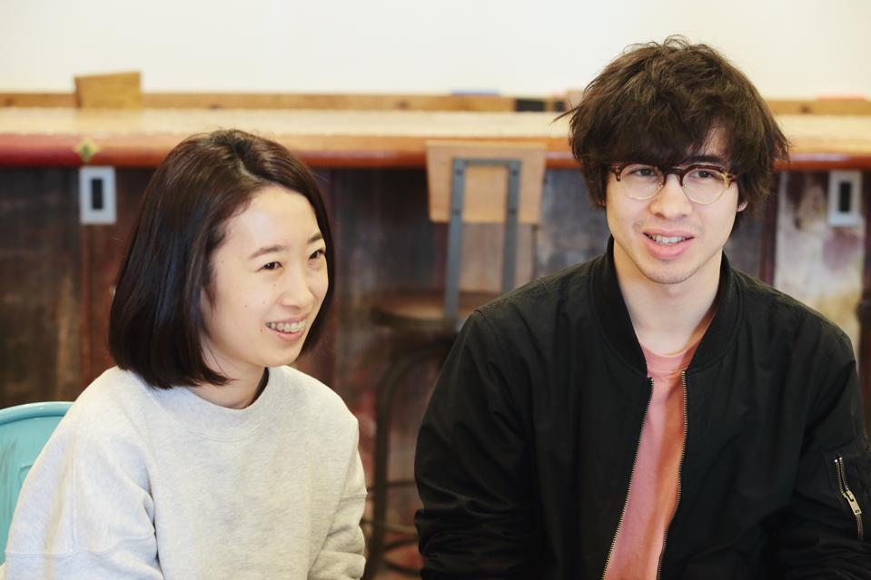 Studio PLAYFOOL's Saki Maruyama (left) and Daniel Coppen (right) are among the international entrepreneurs using the facilities at DMM.make AKIBA.