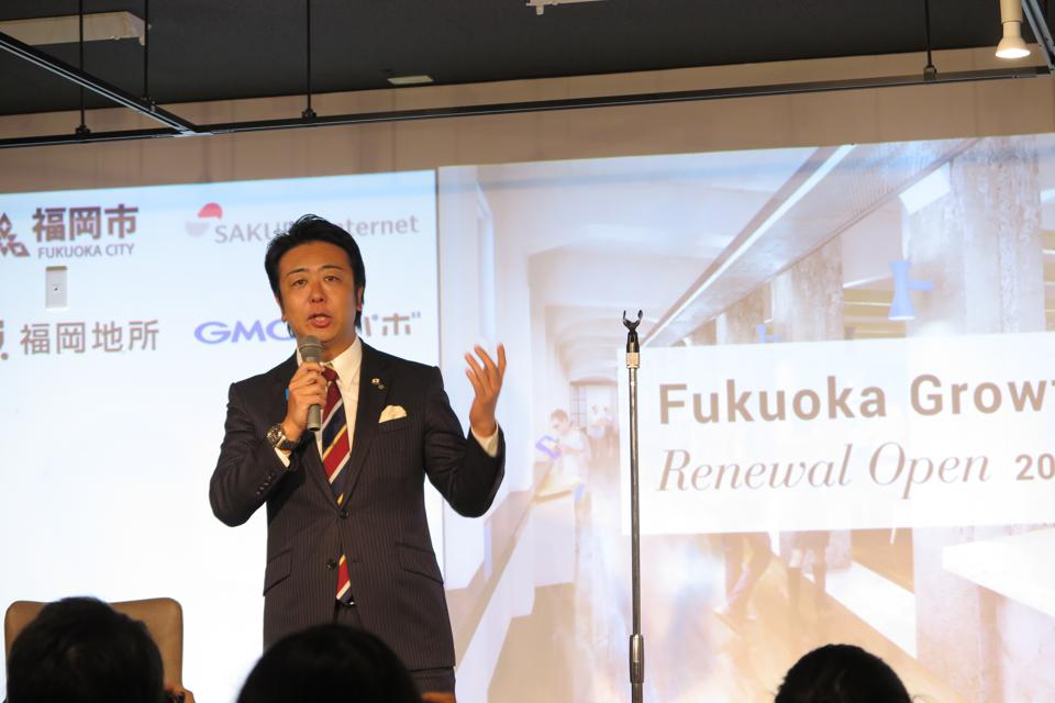 ″We are actively luring challenging startups from within Japan and abroad,″ says Fukuoka Mayor Soichiro Takashima