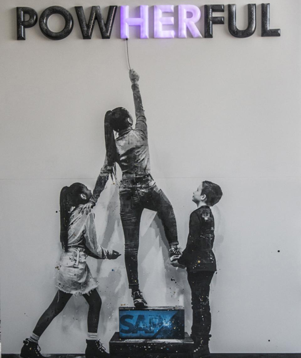 Gender equity artwork SAP unveiled at SXSW sends important message: by supporting women, we support everyone.