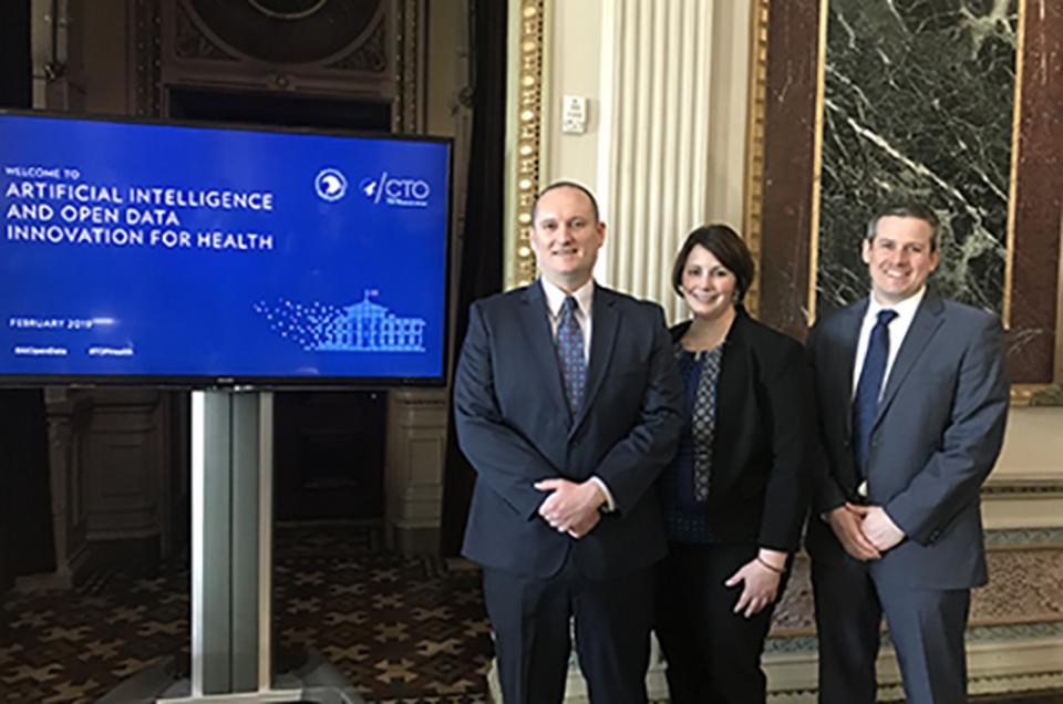 Collaborators on the TOP Health Sprint included Oracle's Matthew Freeman, Rebecca Laborde, and Dan Kuenzig.
