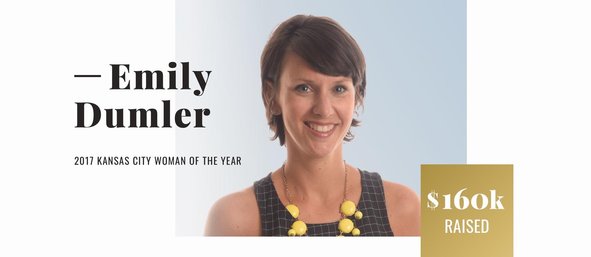 Emily Dumler, 2017 Kansas City Woman of the Year, $160K Raised