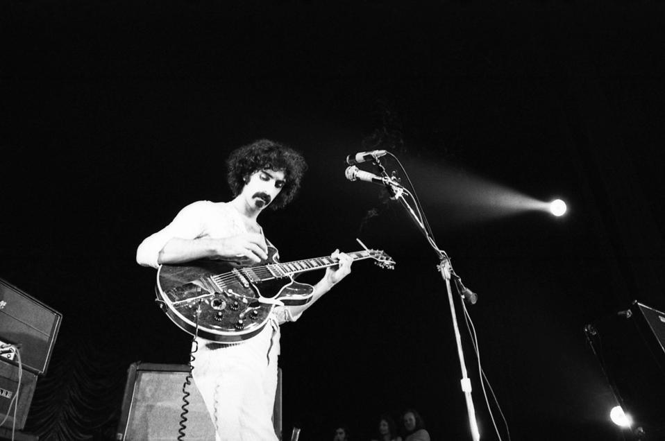 Frank Zappa in Paris, 1970.