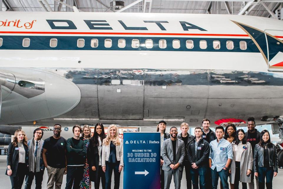Delta Under 30 Advisory Board members gather at Delta's HQ in Atlanta.