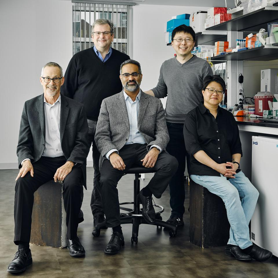 Sherlock Biosciences cofounders in a science lab