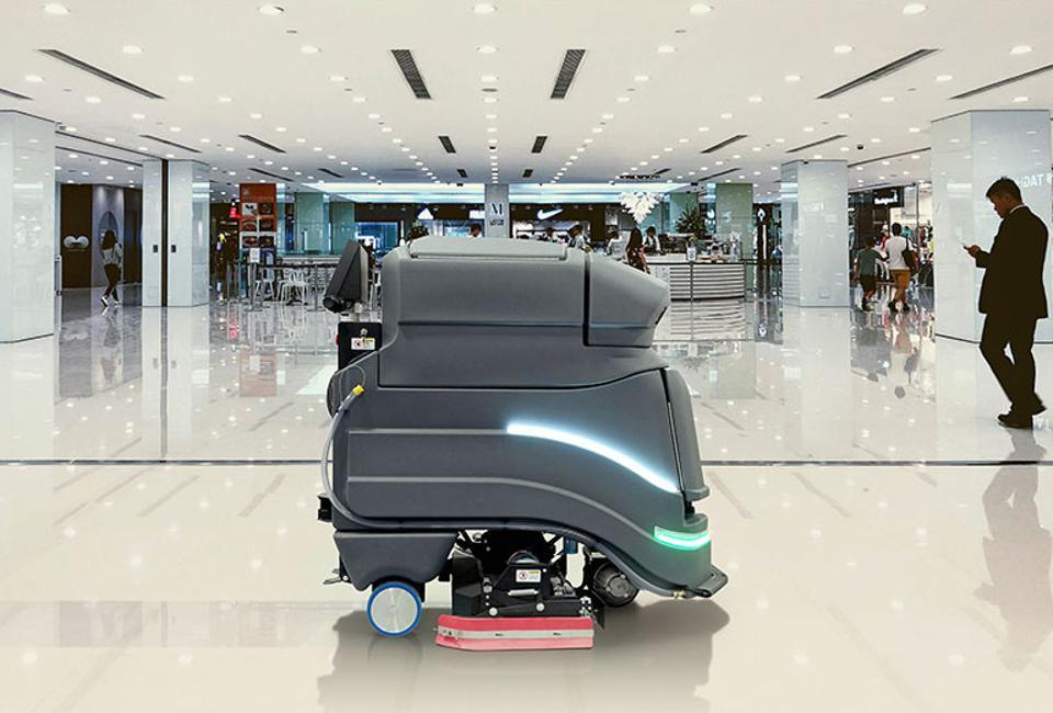 Avidbots sweeper at airpor