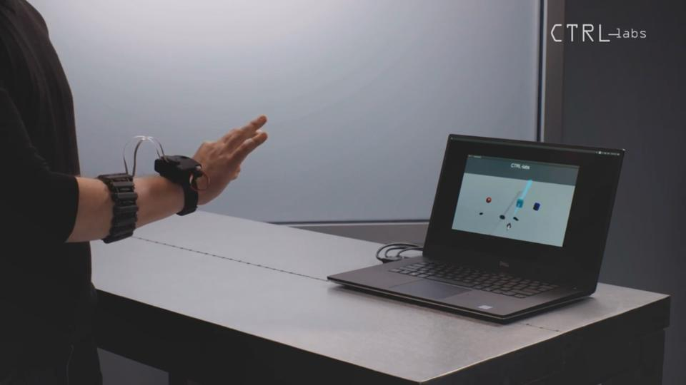 Demo using CTRL-Labs wristband to control a laptop