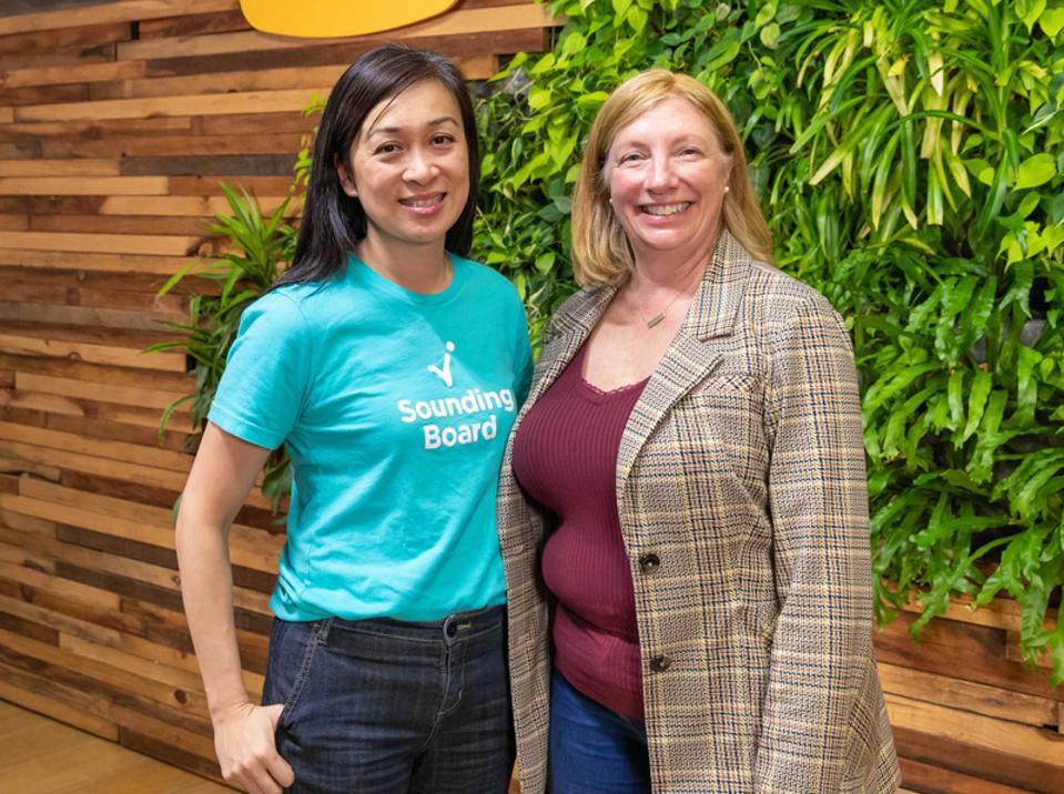 Sounding Board co-founders, Christine Tao, CEO (L) and Lori Mazan