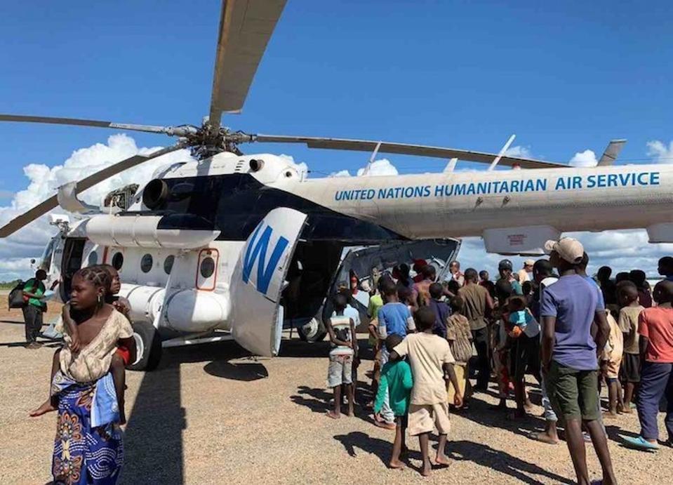 UNICEF ja partnerid on tarninud 43 tonni hädaabivahendeid, et aidata Mosambiigi perekondadel hävitada Cyclne Idai.