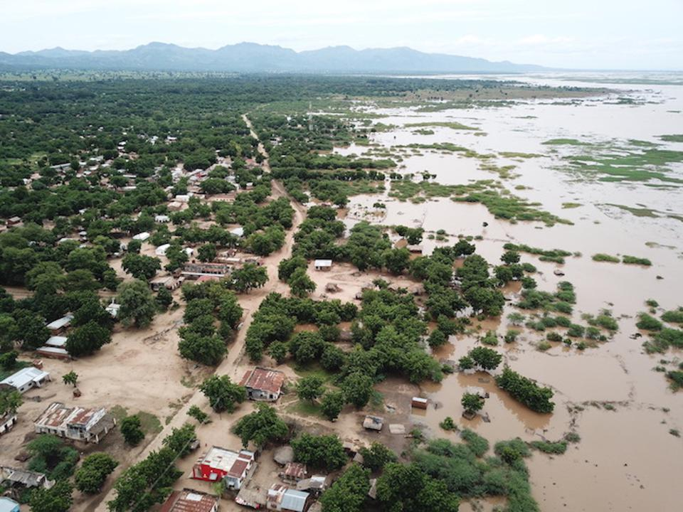 A March 14 drone photo captured the flooded areas around Marka, Malawi on the Malawi-Mozambique border.