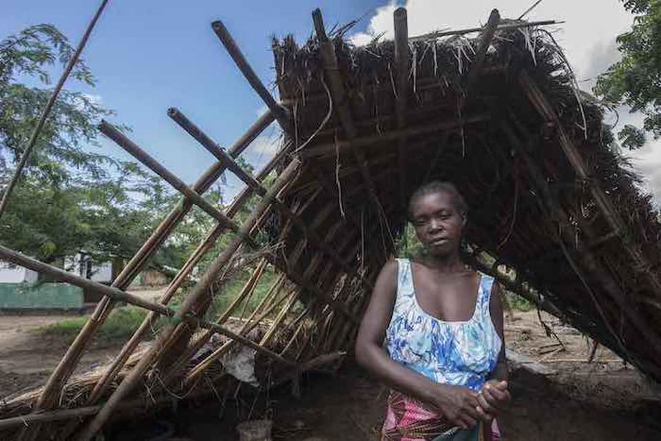 Cyclone Idai destroyed the home where Anne Joseph, 24, lived with her children in southern Malawi's Nsanje district.