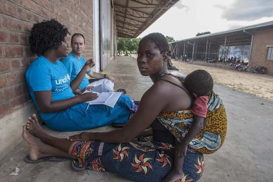 Martha Martin, 28, paid $832 to cross the river from Mozambique with her daughter. They didn't have enough money for the whole family, so her husband stayed behind. She does not know if he survived.