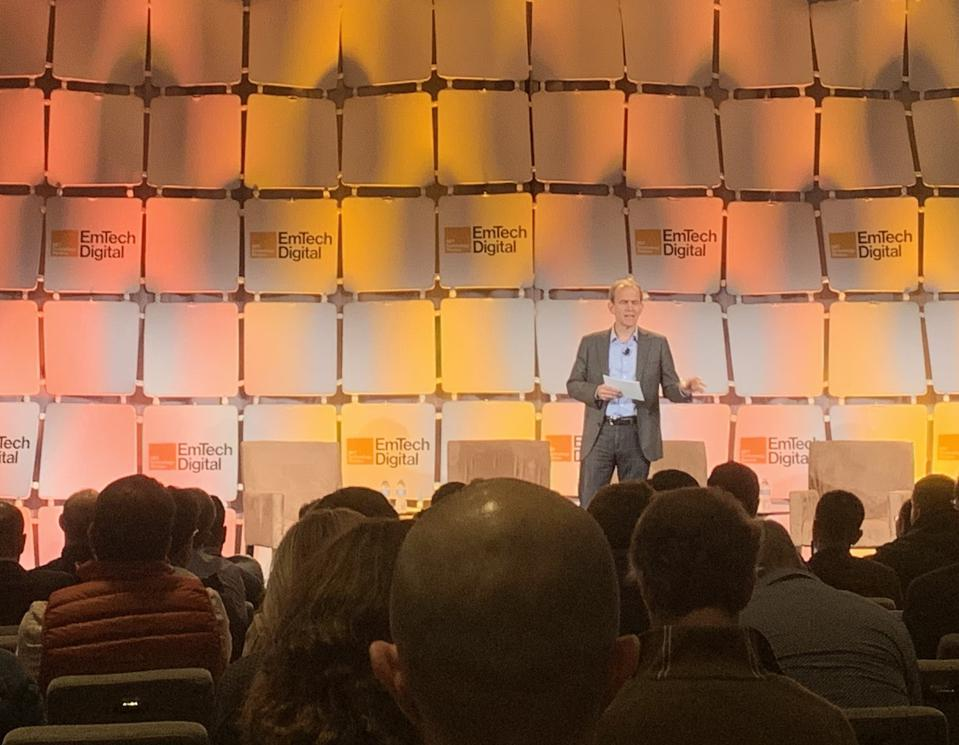 Google's Kent Walker speaks at an MIT Technology Review conference in San Francisco.