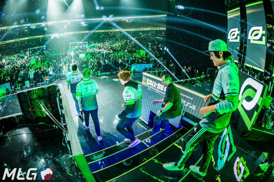 Gaming teams compete at the Call of Duty World League Championship at the Amway Center in 2017.