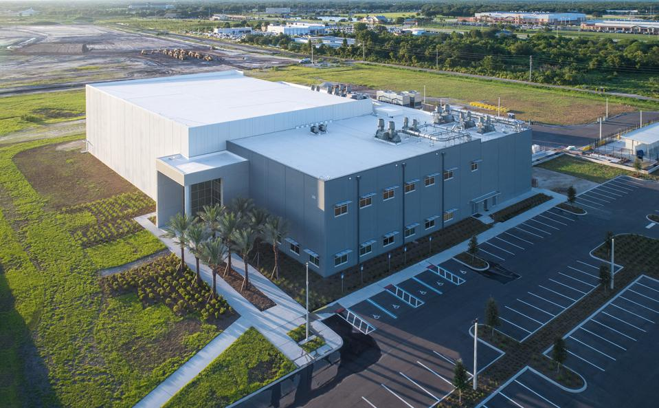 The Florida headquarters of BRIDG, a microelectronics fabrication facility built in 2017.
