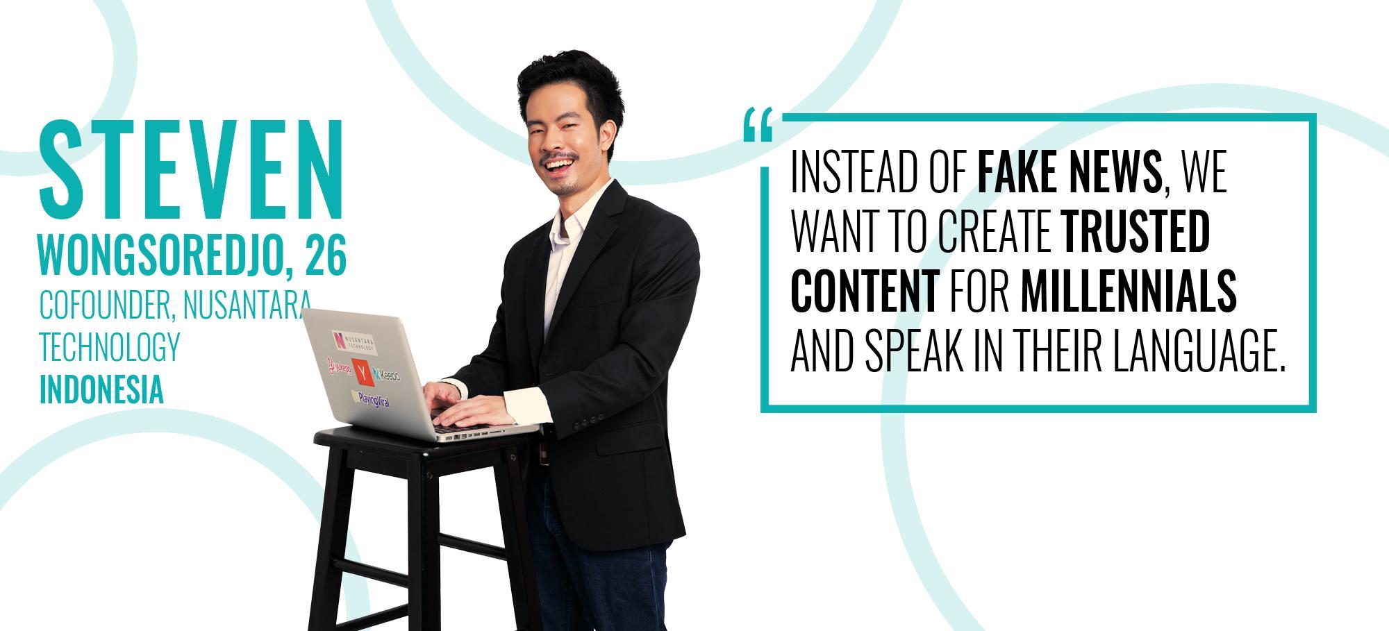 Steven Wongsoredjo menjadi featured honoree di daftar Forbes 30 under 30 Asia 2019 | Sumber: Forbes
