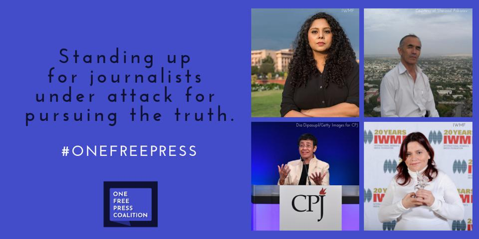 Four journalists on the April 2019 list of 10 Most Urgent cases of injustice.
