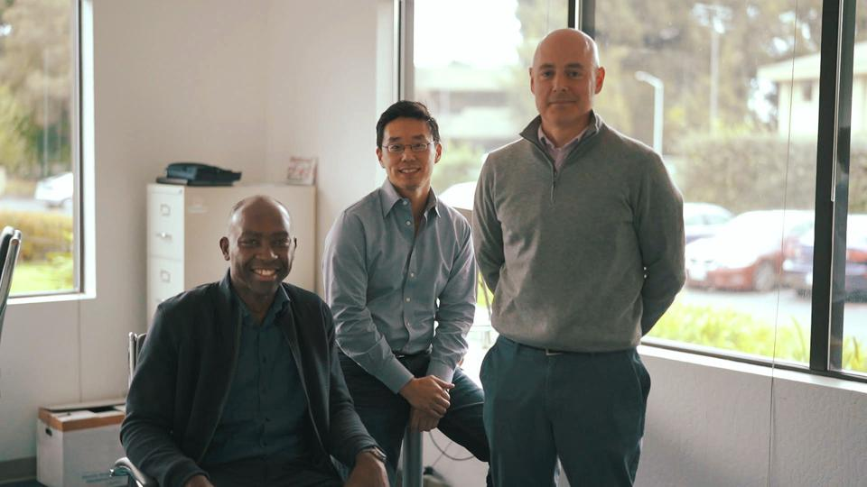 SambaNova Systems' co-founders (from left to right) Kunle Olukotun, Rodrigo Liang, and Chris Ré are building a hardware and software system to make artificial intelligence applications faster and more efficient.