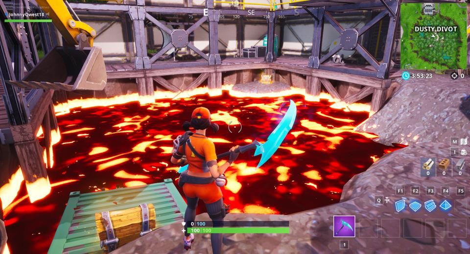 Fortnite' Players Have Cracked Open A Lava Pool That May Consume